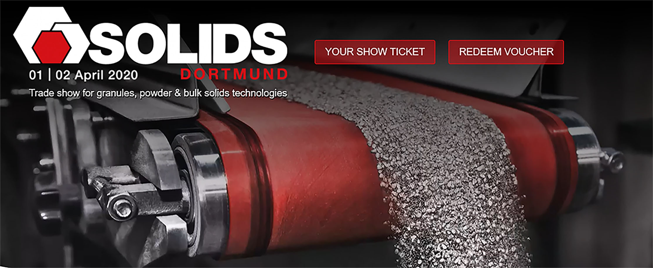 CinchSeal attends Solids trade show in Dortmund, Germany on April 1-2, 2020