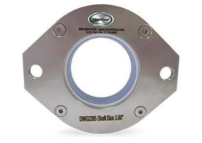 "next generation rotary shaft seal designed to handle 1/4"" total radial shaft runout"